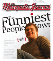 Marquette Journal Cover with photo of student Charlie Bury