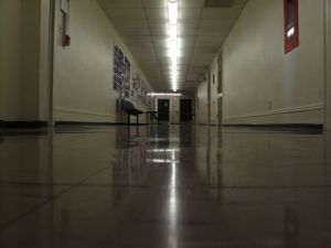 Johnston Hall, third floor hallway