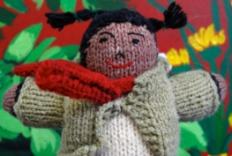 'Pigtails' doll created by Peruvian Knitters
