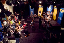 'Centennial Seminars' program behind the scenes in Studio 7