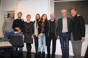 Robert Shuter (far right) with people from Aarhus University, Denmark