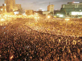 Egyptian protestors take to the streets