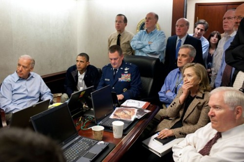 The original Situation Room photograph. (Pete Souza/The White House)