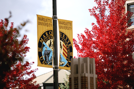 Marquette University campus during autumn