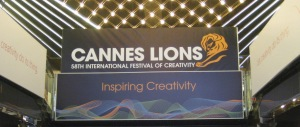 'Cannes Lions' sign