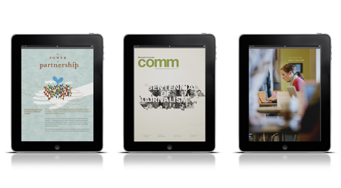 Comm magazine app, available in the iTunes store