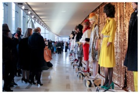 Chris Benz showcasing his next line at the Lincoln Center during NY Fashion Week. Photo: Crystal Schreiner.
