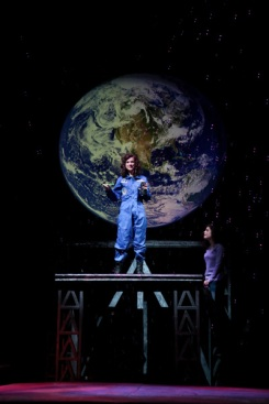 """Photo from Marquette University's production of """"Defying Gravity."""" Photo: Marquette University IMC."""