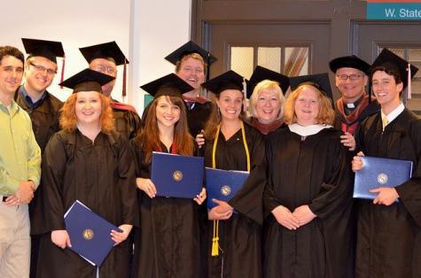 Performing Arts graduates and faculty. Photo: Carole Burns and Jenny Harpum.